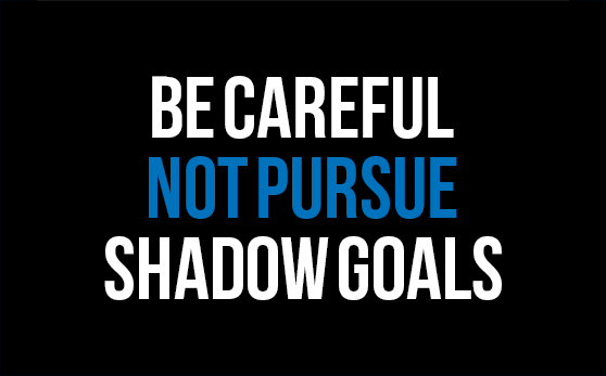 The Pursuit of Shadow Goals